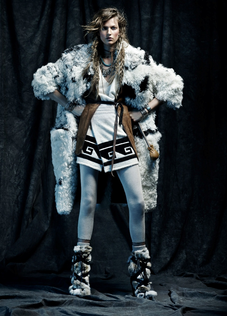 Bette Franke shot by photographer Toby Knott - winter is coming