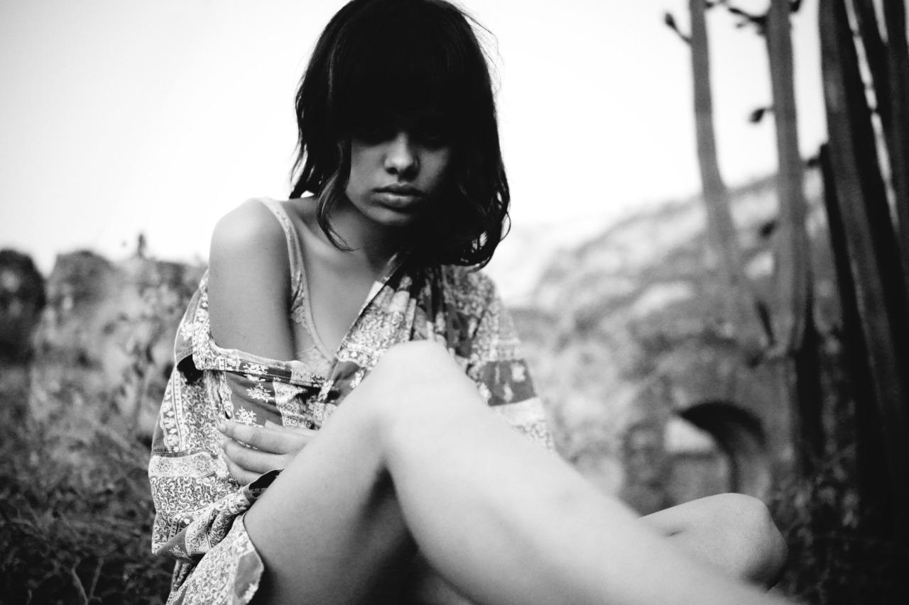 model shot by Kate Bellm