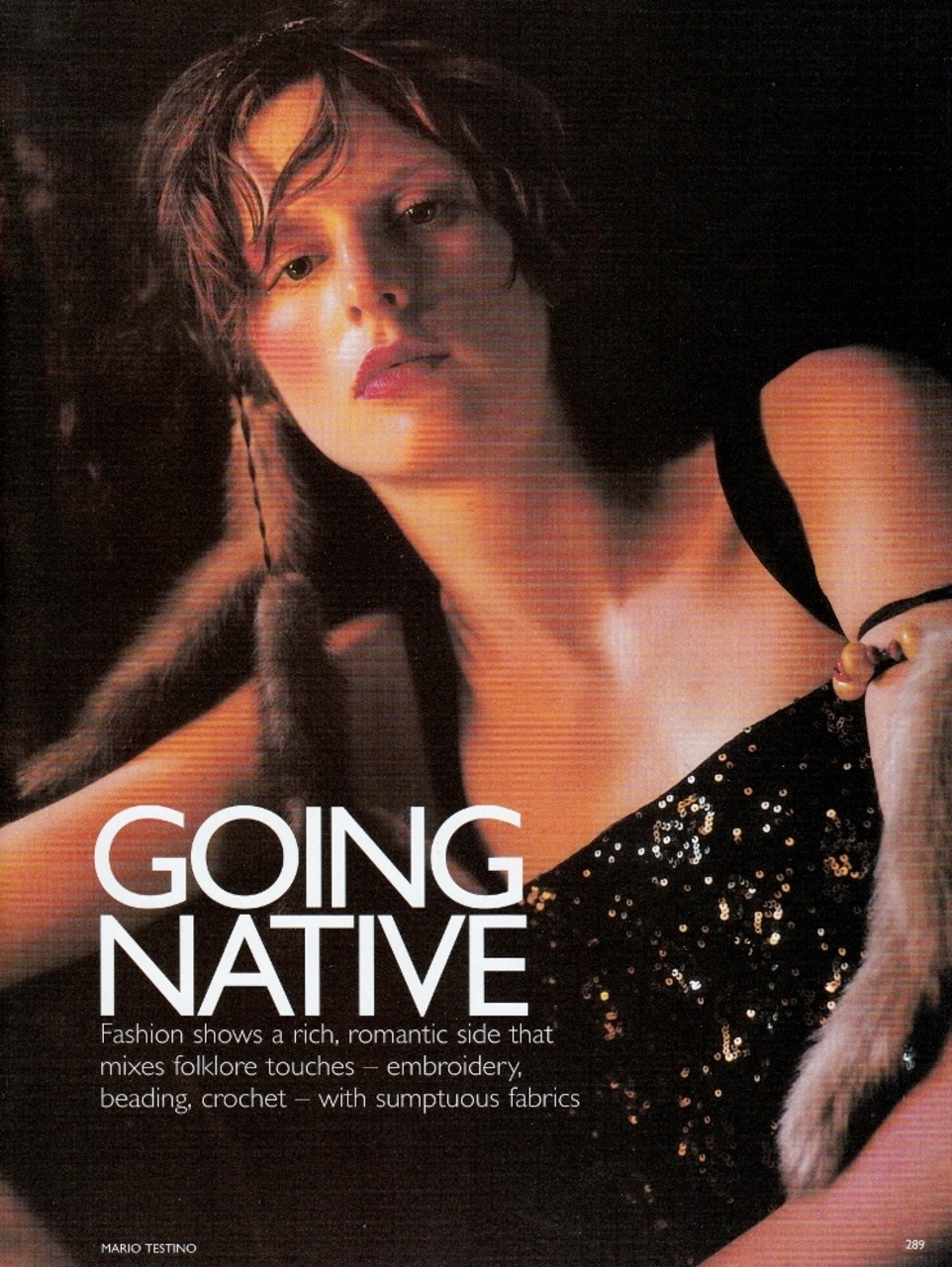 "photographer Mario Testino - ""Going Native"""