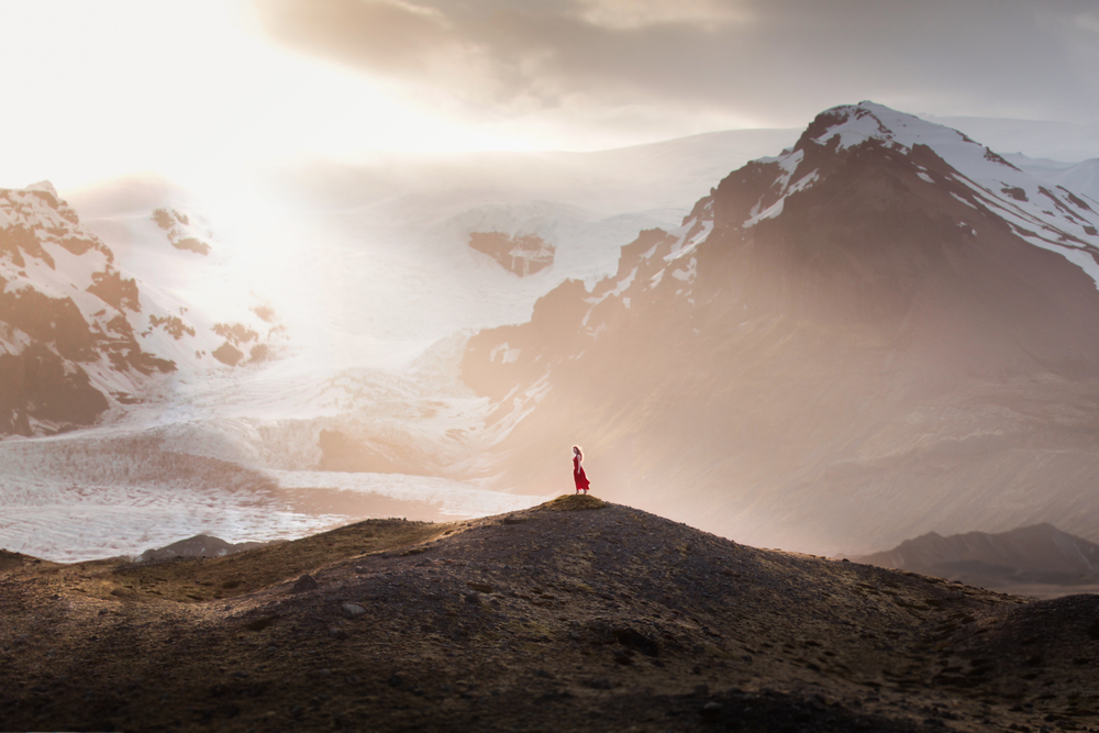 mountian and girl by Elizabeth Gadd