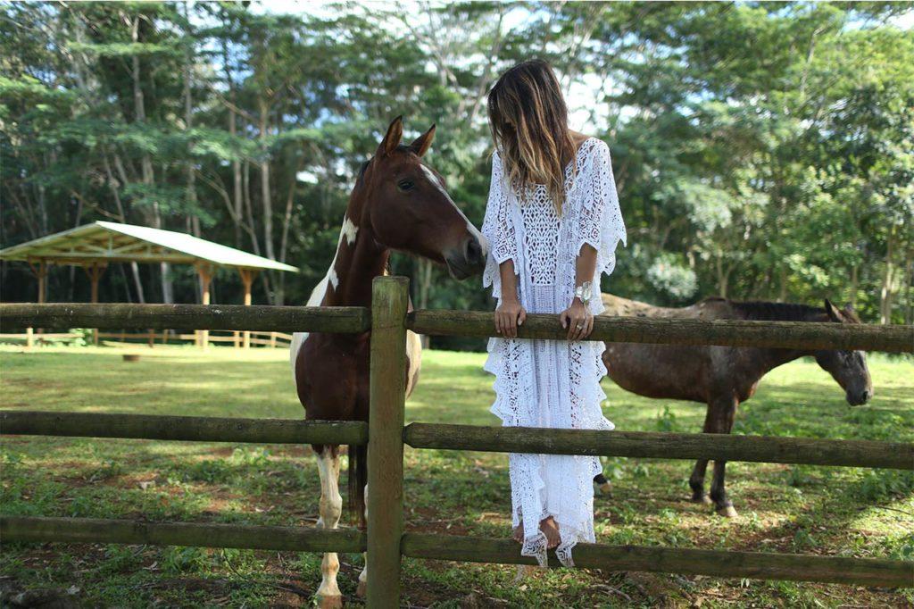 Rachel Barnes with horses