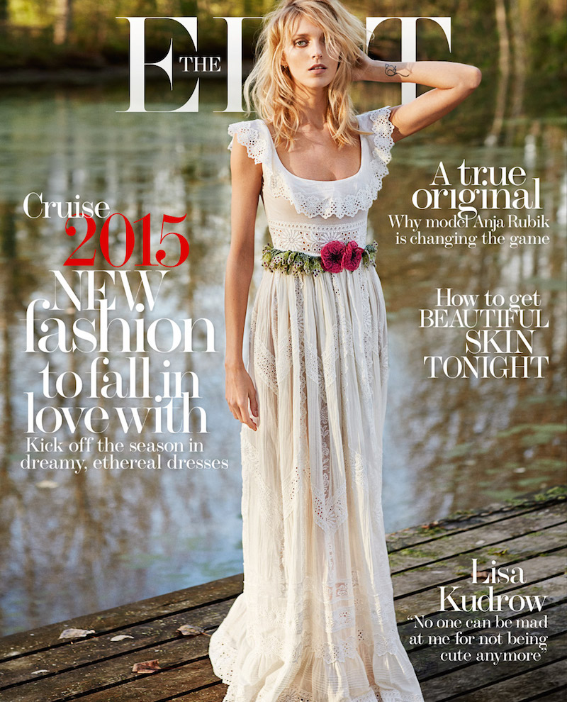 The Edit cover - Anja Rubik