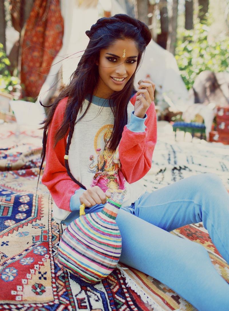 Фото девушка в образе индианки 32 фотография