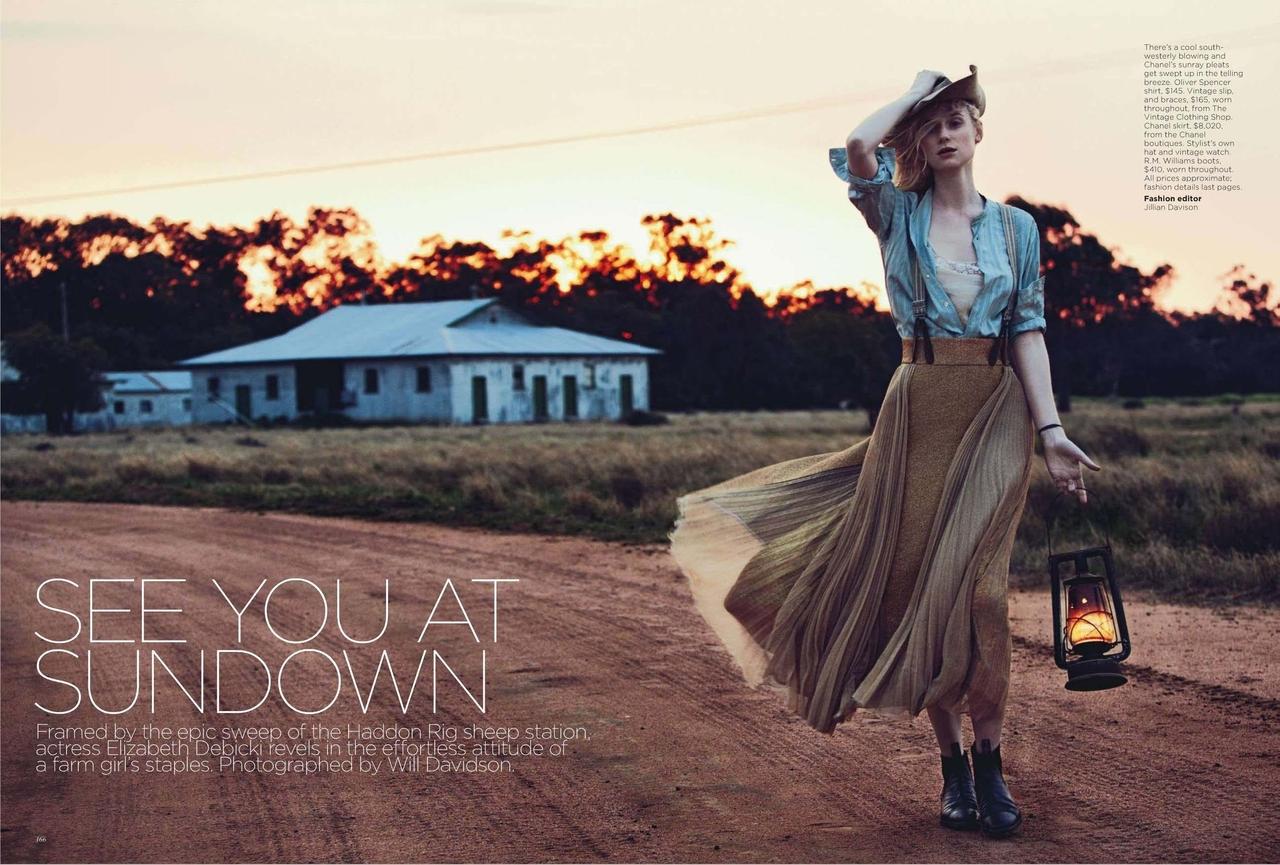 actress Elizabeth Debicki for Vogue