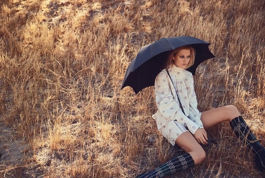 model Toni Garrn - make up Thomas De Kluyver