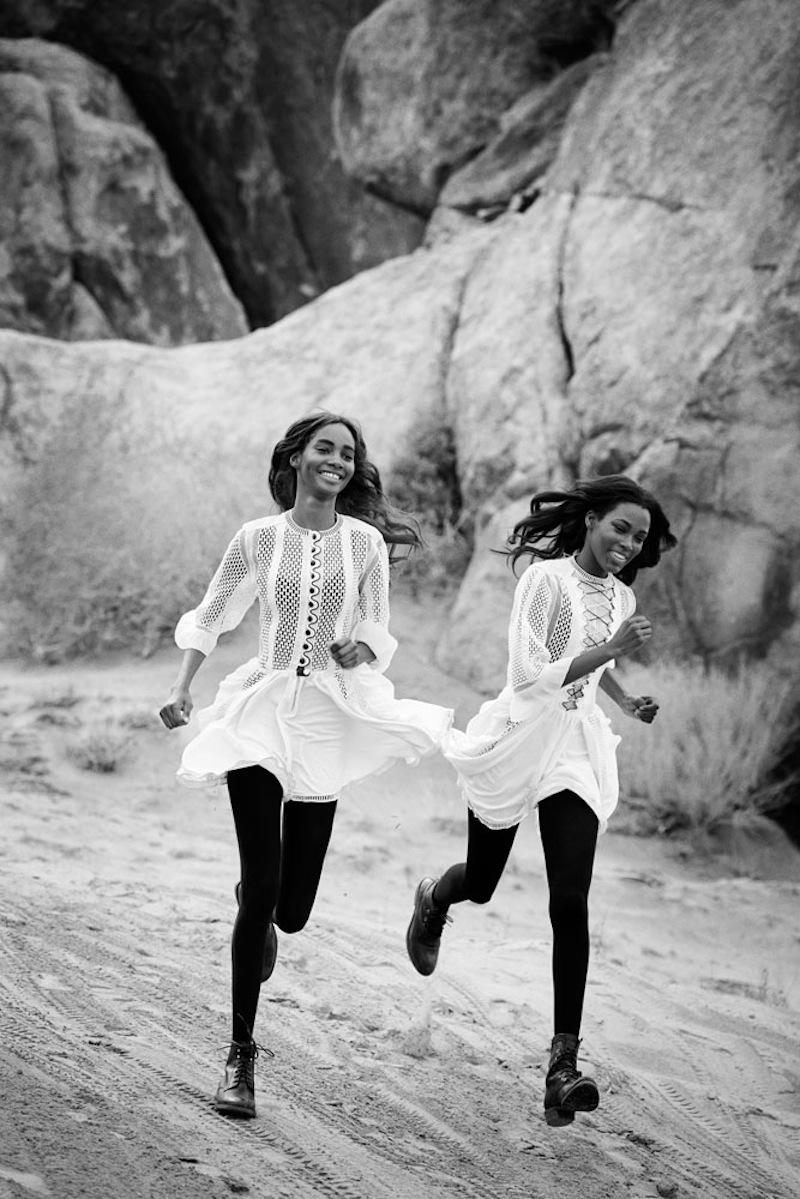 Peter Lindbergh - models Leila Nda, Aya Jones, Imaan Hammam