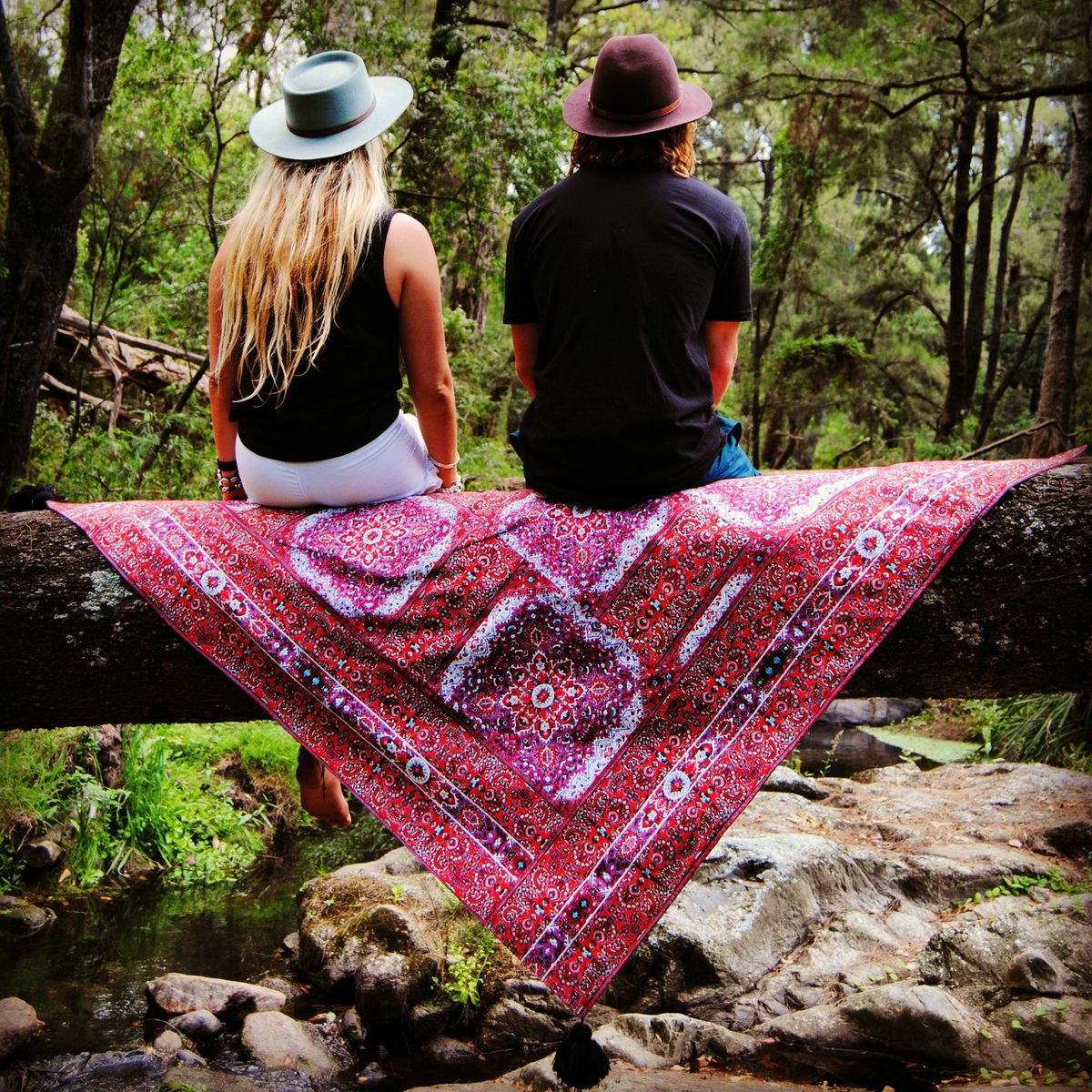 Wandering Folk rug