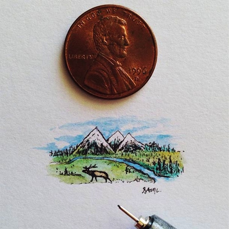 Sam Larson - miniature illustration