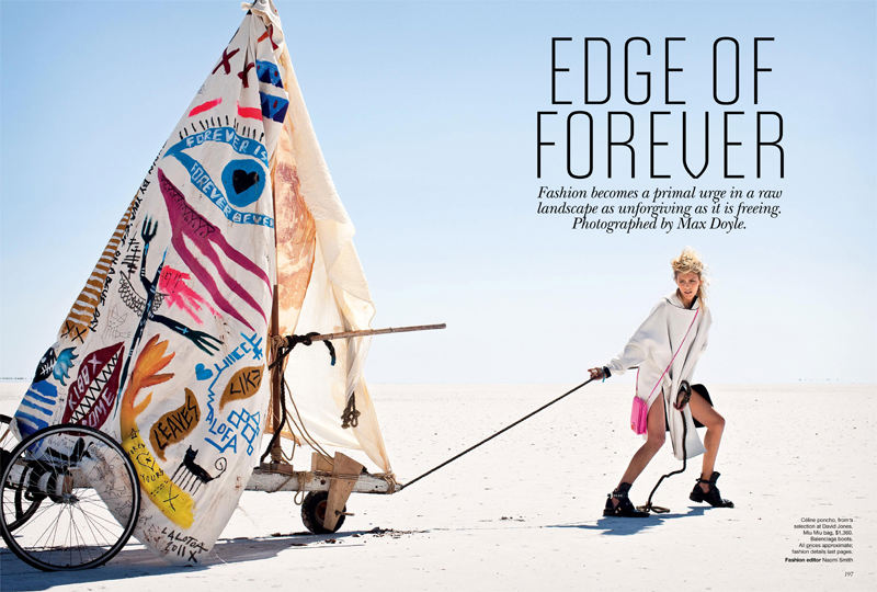 "Vogue Australia April 2011 ""Edge of Forever"""