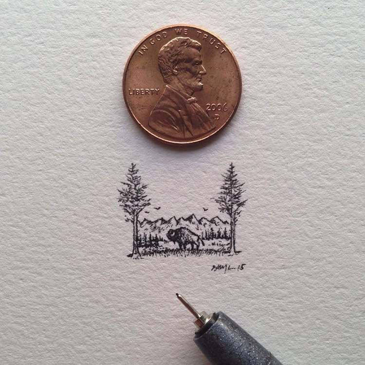 miniature art by Sam Larson