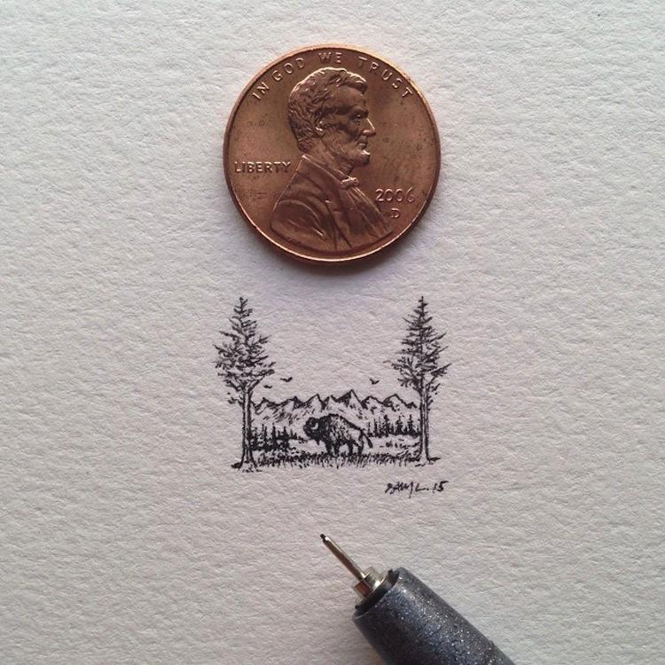 miniature art by Sam Larson