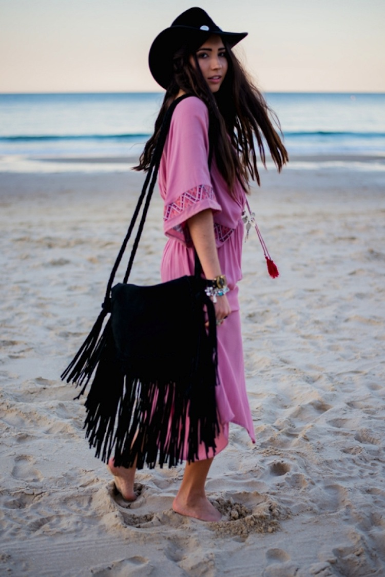 Boho Bazaar - BLACK TASSLE BAG