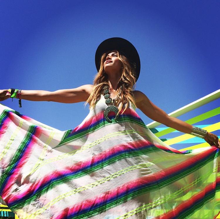 Coachella 2015 - model Rachel Barnes