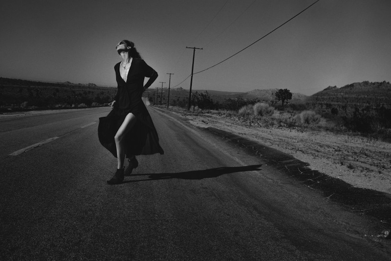 Hugh Lippe shoot model Erin Wasson