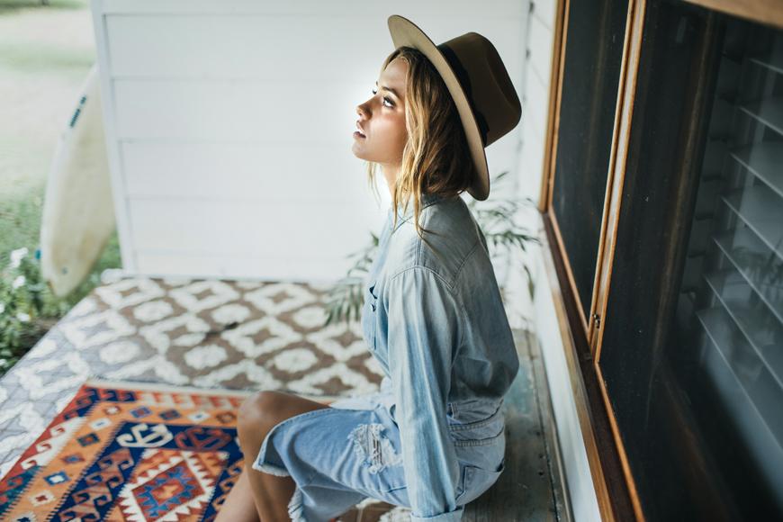 Driftlab winter 15 lookbook - model Paige Maddison
