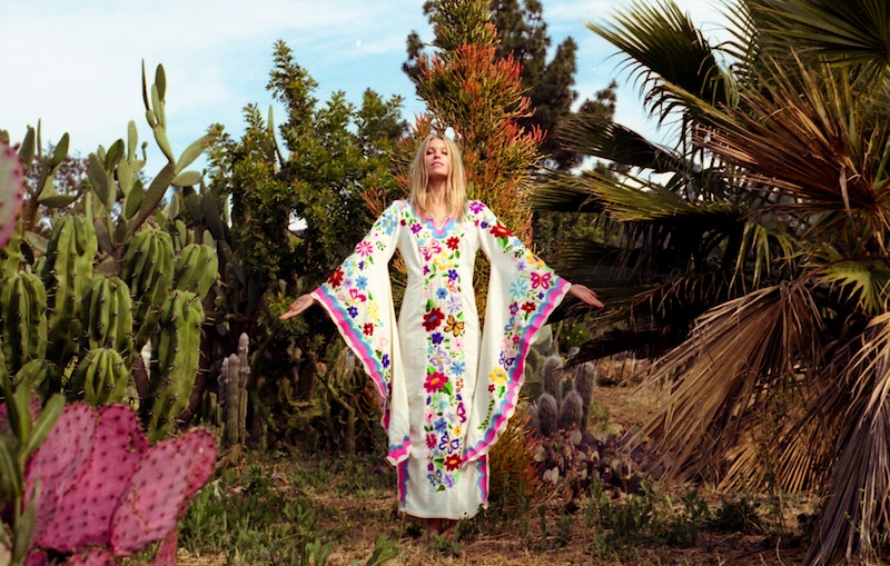Summer of Love - embroidered woodstock kaftan