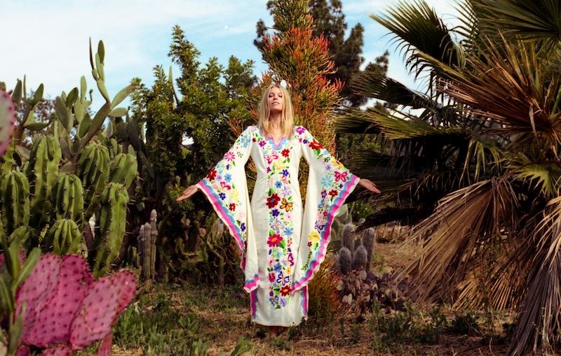 Summer of Love - embroidered woodstock kaftan