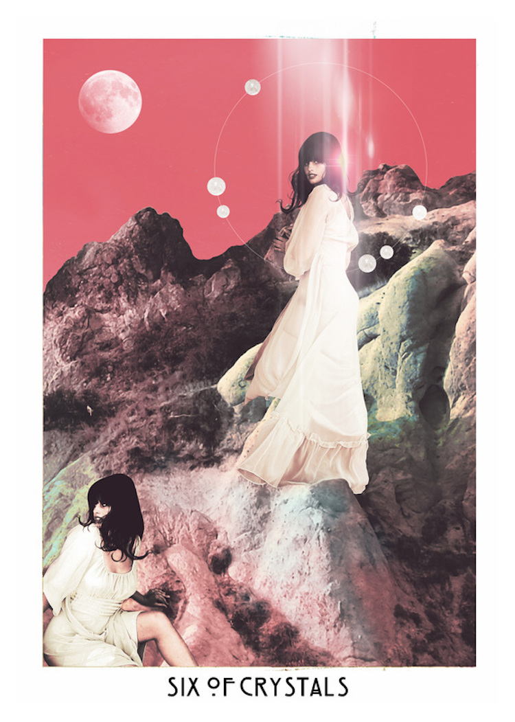 The Starchild Tarot - Six of Crystals