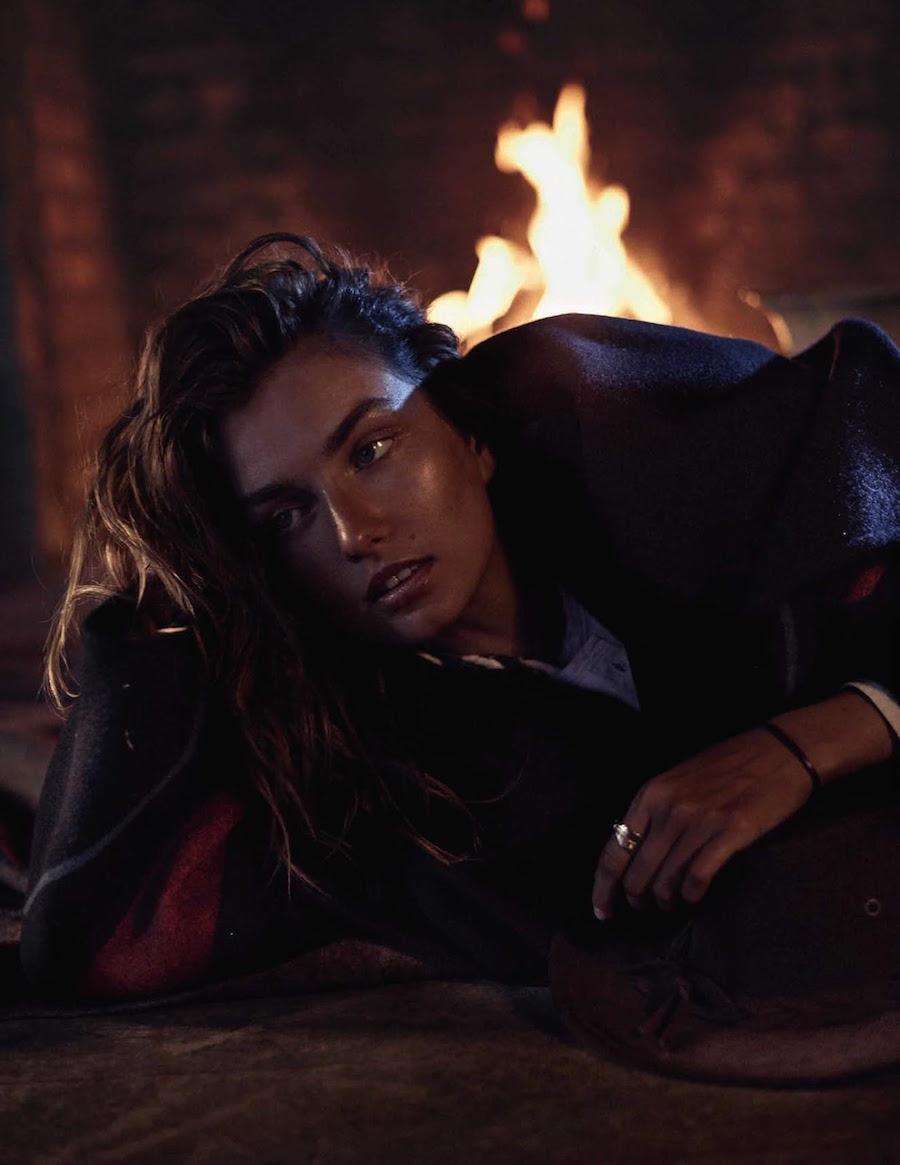 Benny Horne shot model Andreea Diaconu for Vogue SPain