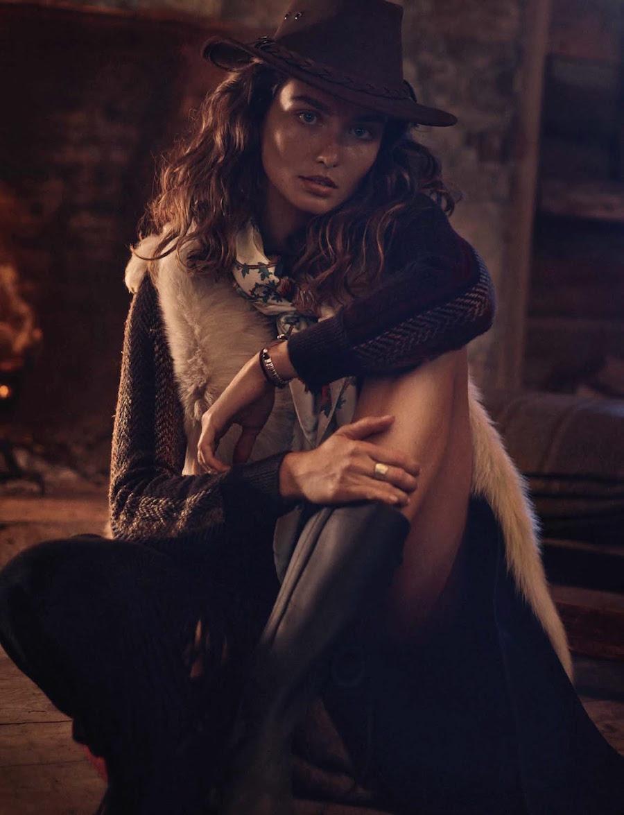 model Andreea Diaconu by Benny Horne