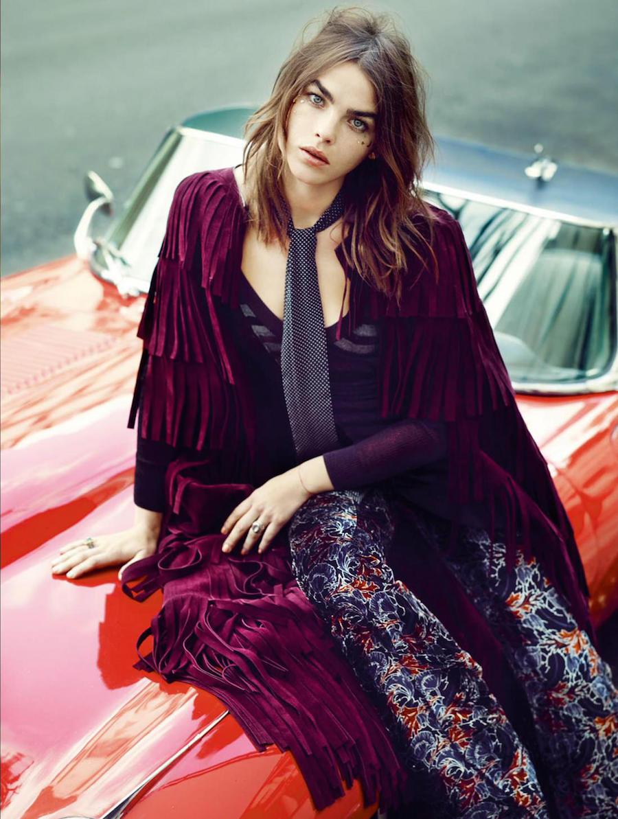 """Elle UK Oktober 2015 """"Dreaming of Stevie"""" editorial - model Bambi Northwood"""