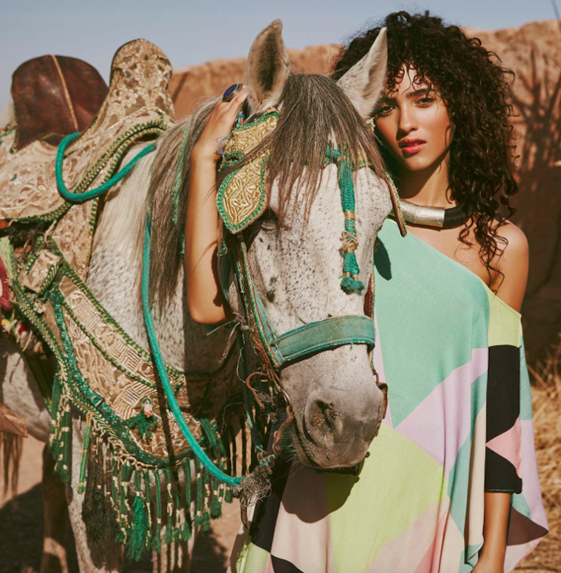 "Mara Hoffman ""A Moroccan Dream"" with model Melodie Vaxelaire"