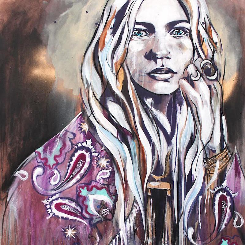Folly_Muse_-Hannah_Adamaszek_-_Purple_Haze_-_Original_Painting